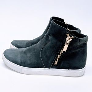 Kenneth Cole Leather Keenan Hi-Top Sneakers